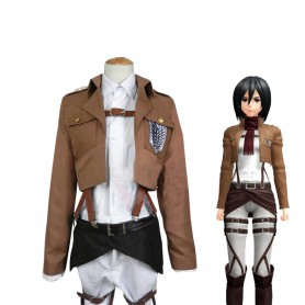 Attack on Titan Mikasa Ackerman Scouting Legion Uniform Cosplay Costume