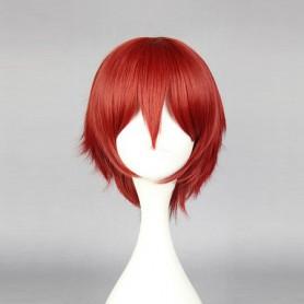 Red Assassination Classroom Class 3-E Karma Akabane Cosplay Wig