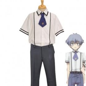 Baka to Test to Shoukanjuu Boys' Summer School Uniform Cosplay Costume