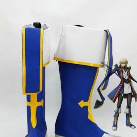BlazBlue Coplay Jin Kisaragi Blue Military Cosplay Boots