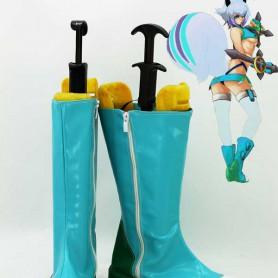 BlazBlue Makoto Nanaya Light Blue Cosplay Boots