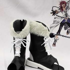 Brave Ten/Brave 10 Yuri Kamanosuke Black and White Cosplay Boots