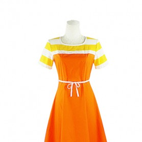 Brynhildr in the Darkness Kuroha Neko Orange Cosplay Costume/Dress