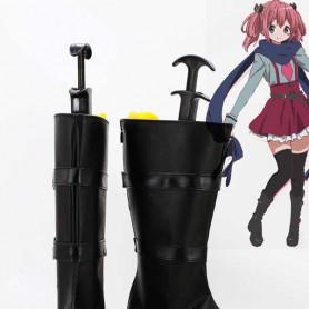 Chuunibyou Demo Koi ga Shitai Satone Shichimiya Black Cosplay Boots