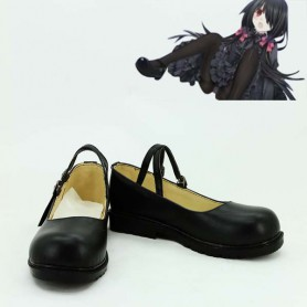 Date A Live Tokisaki Kurumi Black Cosplay Show Shoes