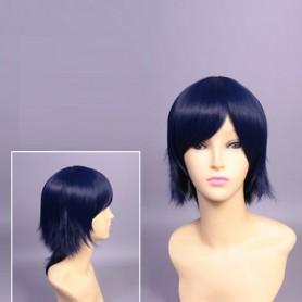 Devil Survivor 2: The Animation Makoto Sako Blue Cosplay Wig