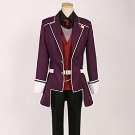 Diabolik Lovers Reiji Sakamaki Purple School Uniform Cosplay Costume