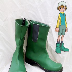 Digimon Adventure Takeru Takaishi Green Cosplay Boots