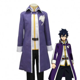 Fairy Tail Gray Fullbuster Purple Cosplay Costume