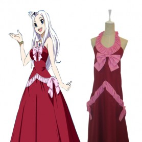Fairy Tail Mirajane Strauss Cosplay Costume/Evening Dress