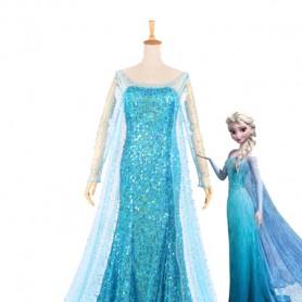 Frozen Elsa the Snow Queen Blue Cosplay Cosplay Dress