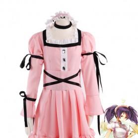 Future Diary Minene Uryu Pink Cosplay Costume/Lolita Dress