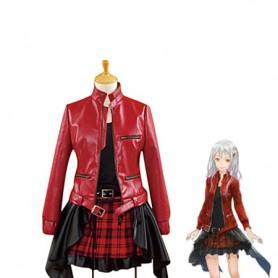 Guilty Crown Inori Yuzuriha Red & Black Cosplay Costume