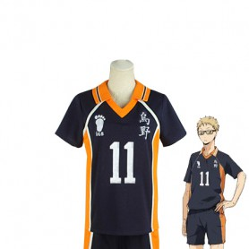 Haikyuu!! Kei Tsukishima Karasuno High School Volleyball Team Uniform Cosplay Costume