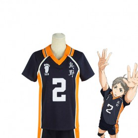 Haikyuu!! Koushi Sugawara Karasuno High School Volleyball Team Uniform Cosplay Costume