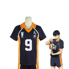 Haikyuu!! Tobio Kageyama Karasuno High School Volleyball Team Uniform Cosplay Costume