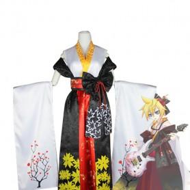 Vocaloid Fleeting Moon Flower Len Kagamine Cosplay Costume