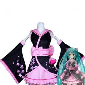 Vocaloid Hatsune Miku Cosplay Cherry Kimono/Costume
