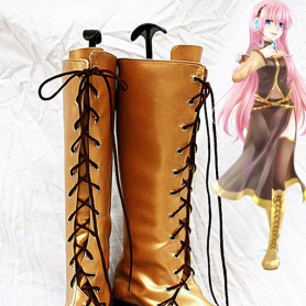 Vocaloid Cosplay Megurine Luka Gold Cospaly Boots