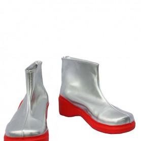 Vocaloid Juon Kiku Silver PU Cosplay Boots