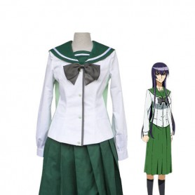 Highschool of the Dead Saeko Busujima School Uniform Cosplay Costume