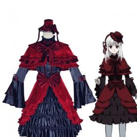 K Project Cosplay Anna Kushina Cosplay Costume/Red Lolita Dress