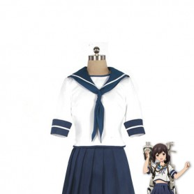 Kantai Collection Fleet Girls Fubuki Sailor suit Cosplay Costume