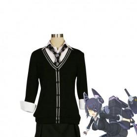 Kantai Collection Fleet Girls Tenryuu School Uniform Cosplay Costume