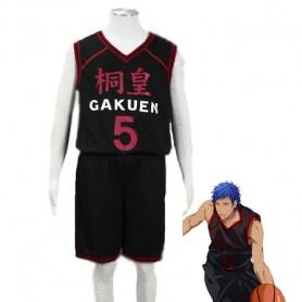 Kuroko no Basketball Daiki Aomine Too Academy School basketball team Uniform Cosplay Costume Black Number 6