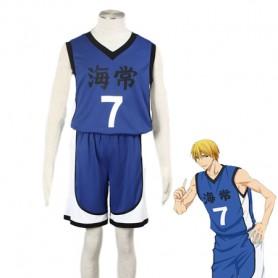 Kuroko no Basketball Ryota Kise Kaijo High School basketball team Uniform Cosplay Costume Blue Number 7