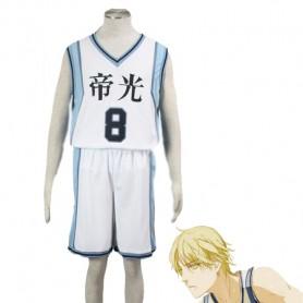 Kuroko no Basketball Ryota Kise Teiko Middle School basketball team Uniform Cosplay Costume White Number 8