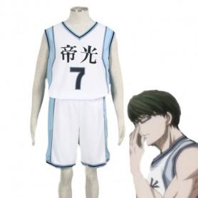 Kuroko no Basketball Shintaro Midorima Teiko Middle School basketball team Uniform Cosplay Costume White Number 7