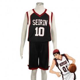 Kuroko no Basketball Taiga Kagami Seirin High School basketball team Uniform Cosplay Costume Black Number 10