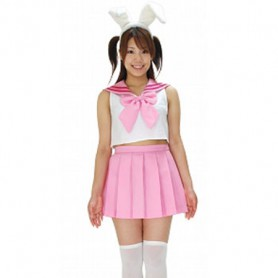 Magister Negi Magi Pink & White Cosplay Costume