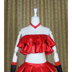 C: The Money of Soul and Possibility Control Cosplay Msyu Red Cosplay Costume