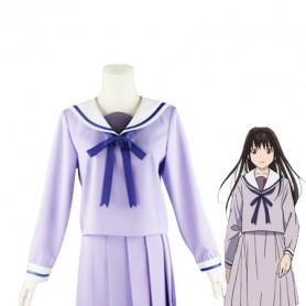 Noragami Iki Hiyori Light Purple Coplay Cotsume/School Uniform