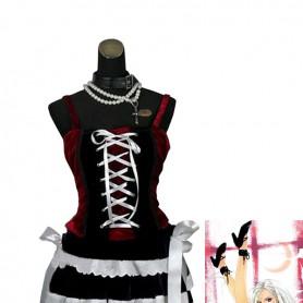 Rosario and Vampire Moka Akashiya Cosplay Costume/Dress