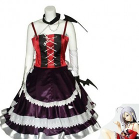 Rosario and Vampire Moka Akashiya Red & Purple Cosplay Costume
