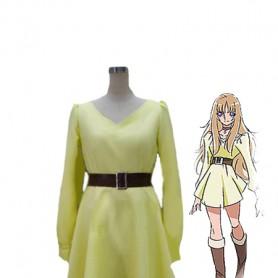 Saint Seiya Omega Aquila Yuna Yellow Cosplay Dress
