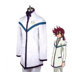Saint Seiya Omega Pegasus Koga White School Uniform Cosplay Costume