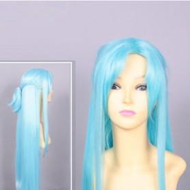 Light Blue Sword Art Online ALO Asuna Yuuki Cosplay Wig