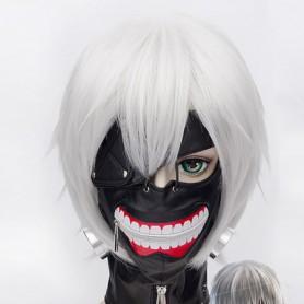 30cm Tokyo Ghoul Ken Kaneki Silver Cosplay Wig