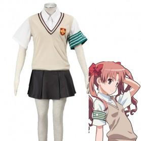 Toaru Majutsu no Index Shirai Kuroko Cosplay Costume Tokiwadai Middle School Uniform