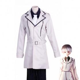 Tokyo Ghoul:re Haise Sasaki White Uniform Cosplay Costume