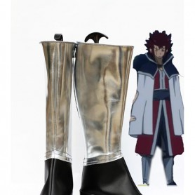 Fairy Tail Cosplay Silver and Black Cosplay Boots