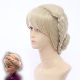 Frozen Elsa the Snow Queen Crowned Cosplay Wig