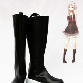 Guilty Crown Cosplay Inori Yuzuriha Black Long Cosplay Boots