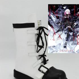 Guilty Crown EGOIST-Reloaded Inori Yuzuriha Black White Cosplay Boots