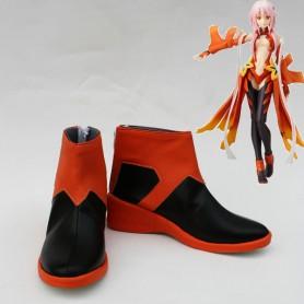 Guilty Crown Inori Yuzuriha Red & Black Cosplay Boots