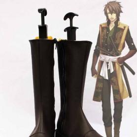 Hakuoki Cosplay Okita Souji Cosplay Artificial Leather Boots
